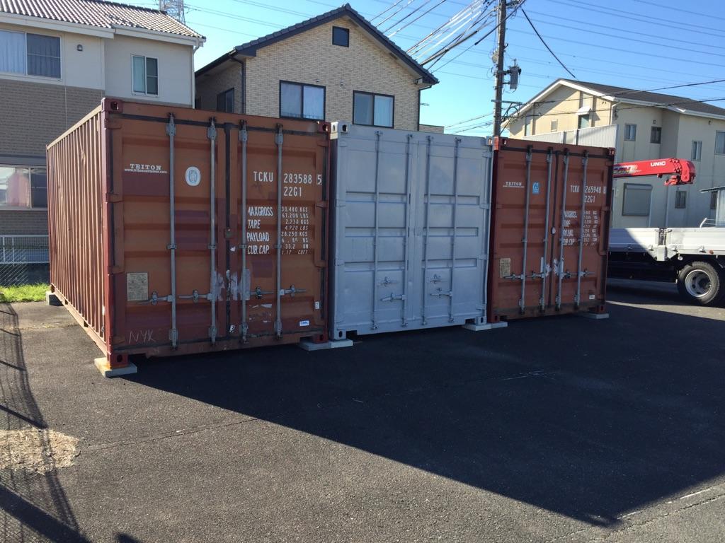 愛知県津島市20F中古コンテナ(B級品・グレー塗装)画像