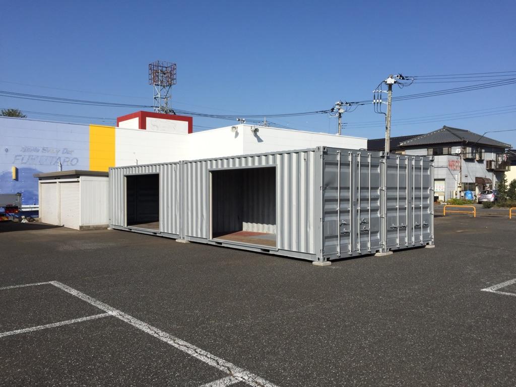 千葉県印西市20F中古コンテナ(シャッター付)画像