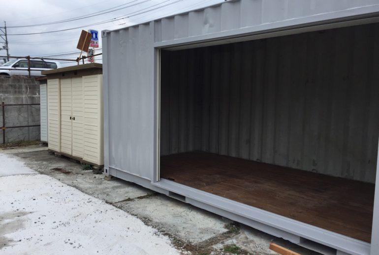 島根県松江市自動車修理店T様20F中古コンテナグレー塗装(シャッター取付加工)5