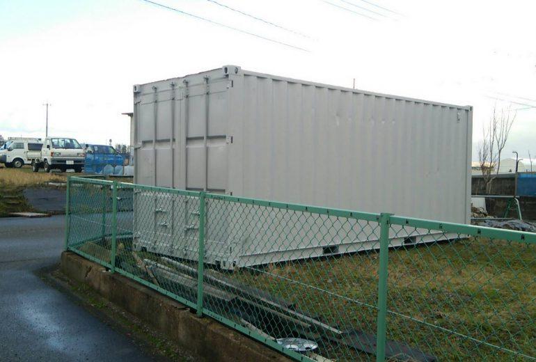 石川県金沢市20F中古コンテナ(グレー塗装)1
