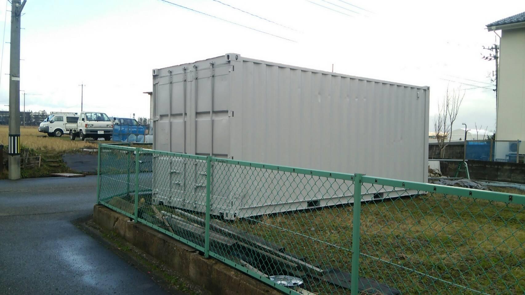 石川県金沢市20F中古コンテナ(グレー塗装)画像
