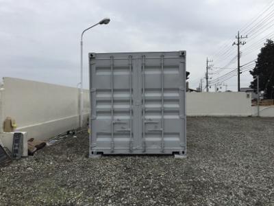 栃木県芳賀町40F中古コンテナグレー塗装2