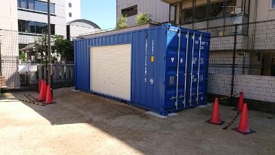 兵庫県加古川市20F新品コンテナシャッター取付加工3