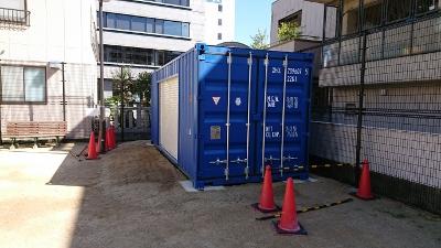 兵庫県加古川市20F新品コンテナシャッター取付加工2