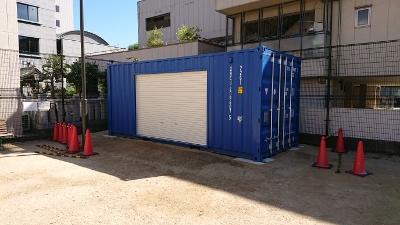 兵庫県加古川市20F新品コンテナシャッター取付加工1