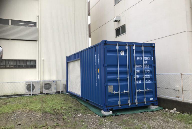 静岡県浜松市20F新品コンテナシャッター取付加工3