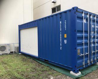 静岡県浜松市20F新品コンテナシャッター取付加工
